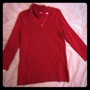 NWT Women's Chili Red lightweight sweater